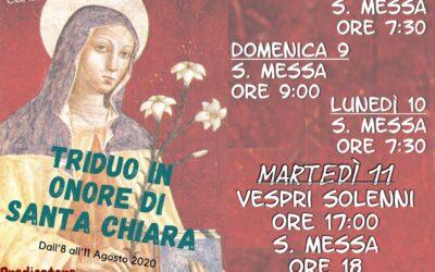 Solennità della Madre S. Chiara 2020